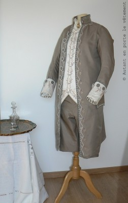 costume homme, 1775